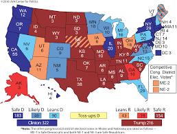 Map Election by Larry J Sabato U0027s Crystal Ball 2016 President