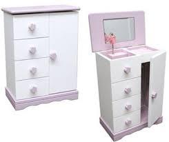Wooden Jewelry Armoire Jewelry Music Box Ballerina Armoire Wood White U0026 Pink
