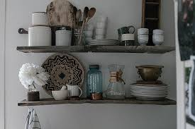 Wood Kitchen Shelves by A Daily Something Diy Open Kitchen Shelving With Reclaimed Wood