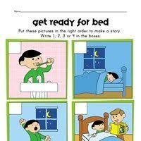 sequencing worksheet running a race therapy pinterest