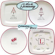 bridal shower plate to sign giveaway 100 towards a wedding signature guest book plate
