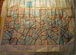 A Map Of Pennsylvania by Pennsylvania In Early Pocket Maps