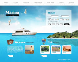 website template 23720 marina travel agency custom website