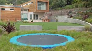 backyard trampoline ideas in ground trampoline youtube