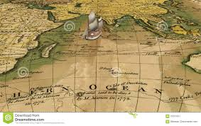 Ancient World Map by Cartoon Sailing Ship On Ancient World Map Stock Video Video