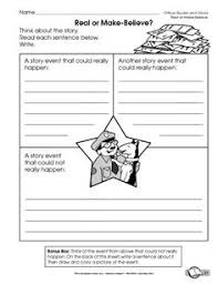 free real or make believe worksheets google search reading