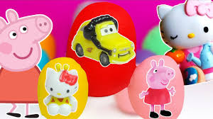 Coffre A Jouet Hello Kitty by Peppa Pig Hello Kitty Oeufs Surprise Play Doh Jouets Youtube