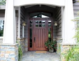 two craftsman six light craftsman door with two sidelights transitional