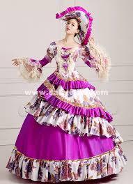 Marie Antoinette Halloween Costume Purple Women Vintage Rococo Marie Antoinette Masquerade Ball Gowns