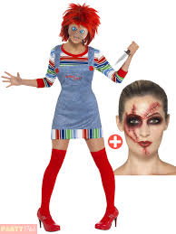 Chucky Makeup For Halloween by Ladies Chucky Costume Make Up Kit Halloween 80s Childs Play Film