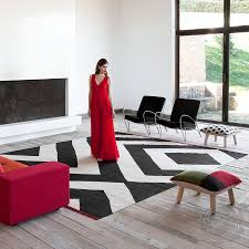 Black Modern Rugs Melange Zoom Rug In Black By Nanimarquina