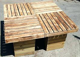 diy outdoor coffee table diy outdoor table with cooler outdoor table reclaimed pallet outdoor