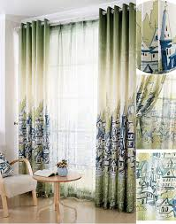Sidelight Curtain by Foreign Madrid Style Green Painting Sidelight Curtains Nicole U0027s