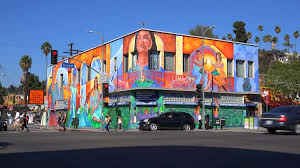 a building in downtown los angeles is brightly painted with murals a building in downtown los angeles is brightly painted with murals and graffiti stock video footage videoblocks