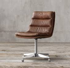 Small Leather Desk Chair Furniture Leather Desk Chair Neiman Pertaining