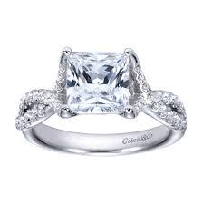platinum princess cut engagement rings platinum princess cut criss cross engagement ring