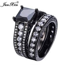 aliexpress buy junxin new arrival black aliexpress buy junxin new fashion big geometric ring sets