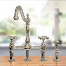 bridge style kitchen faucet randolph morris bridge faucet rmnab511mc s vintage tub