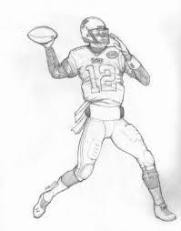 paul u0027s gallery football drawings tom brady denver broncos at