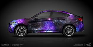 galaxy car wrap galaxy bmw x6 design atelier ttstudio