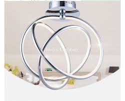 chrome flush mount light free shipping modern chrome led ceiling light fixture led ring