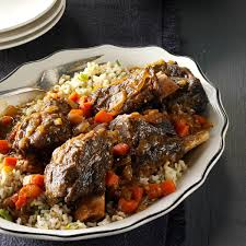 gingered short ribs with green rice recipe taste of home