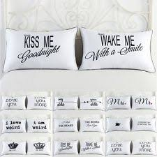his and hers pillow cases his and hers pillowcases bedding ebay