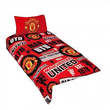 Manchester United Double Duvet Cover Official Manchester United Fc Gifts Find Offers Online And