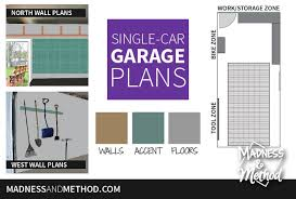 single car garage plans orc week 2 madness u0026 method