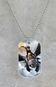 Custom Dog Tag Necklace How To Train Your Dragon Custom Pet Dog Tag Pendant Necklace Chain