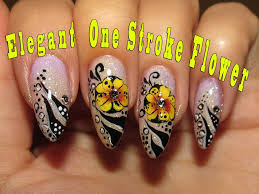 elegant nail art one stroke flower video tutorial youtube