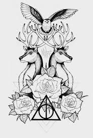 deathly hallows tattoo by marymarylp on deviantart