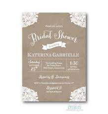 bridal shower invitation vintage lace rustic bridal shower invitation shab chic wedding