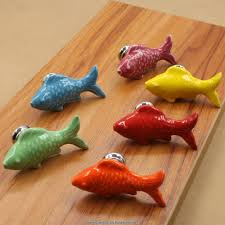 Bedroom Knobs And Pulls For Furniture 6 Colors Little Fish Furniture Knobs For Kids Room Cartoon