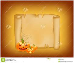 halloween banner clipart halloween banner card with empty paper scroll and pumpkin blank