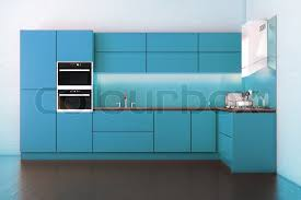 electric blue kitchen cabinets electric blue hi tech luxury kitchen stock image