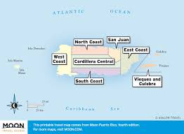 Map Of Puerto Rico by Where To Go In Puerto Rico Moon Travel Guides
