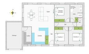 plan maison simple 3 chambres plan maison 100m2 plein pied 3 chambres plan de maison m plein