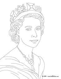 queen elizabeth ii coloring pages hellokids com