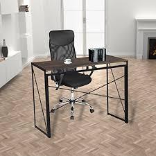 bureau pour ordinateur bureau pour ordinateur en bois et métal large surface 100x50x75
