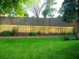 Backyard Fence Decorating Ideas Bedroom Marvelous Backyard Fence Ideas Home Design Amazing