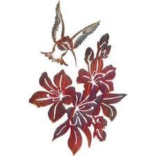 Azaleas With Hummingbird Set Color Wash Steel Wall Art