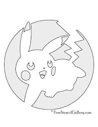 pokemon pikachu stencil 04 free stencil gallery