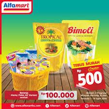 Minyak Goreng Di Alfamart Hari Ini tebus murah cuma 500 tiap beli mamy poko senilai 100rb di alfamart