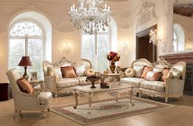 luxurious living room design with gold inspirations and hanging