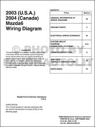 2003 mazda6 original wiring diagram and 2004 canada mazda 6