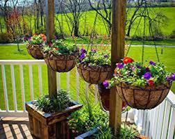 hanging planter basket top 10 best hanging flower baskets for outside best of 2018