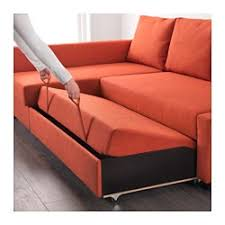 Ikea Futon Sofa Bed Friheten Sleeper Sectional 3 Seat W Storage Skiftebo Dark Orange