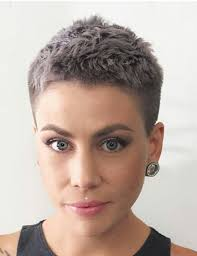 ordinary very short hairdo this kind of short but with a long little something something in