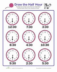 draw the hour hand worksheet education com